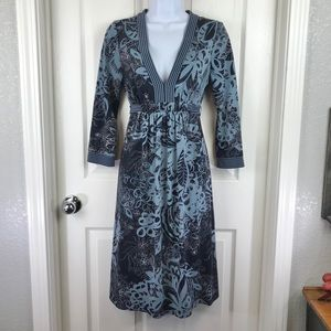BCBGMaxAzria Urika Vintage Blue Dress sz S